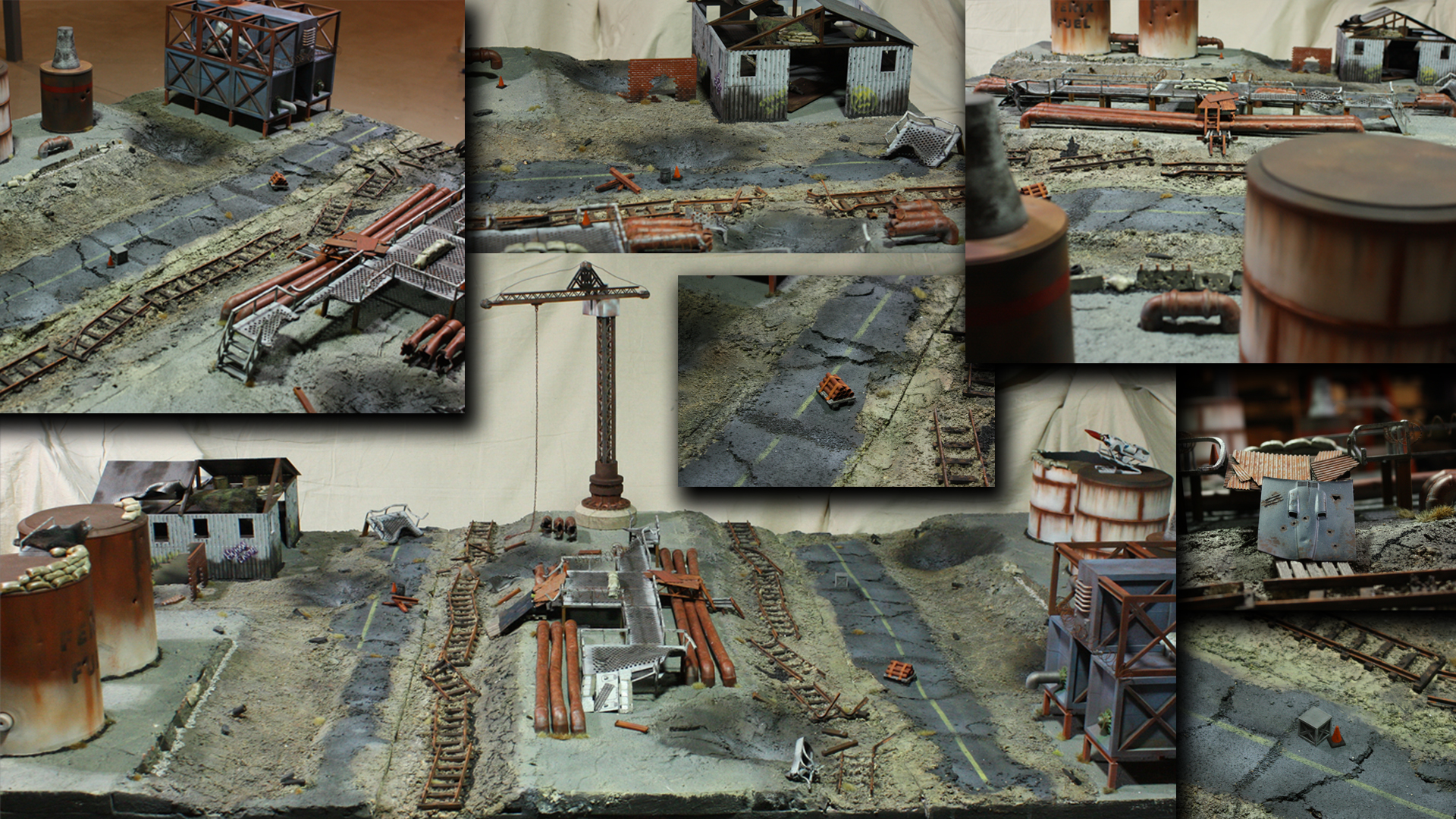 Various views of the finished game table. Check out the YouTube series to see how it was made.