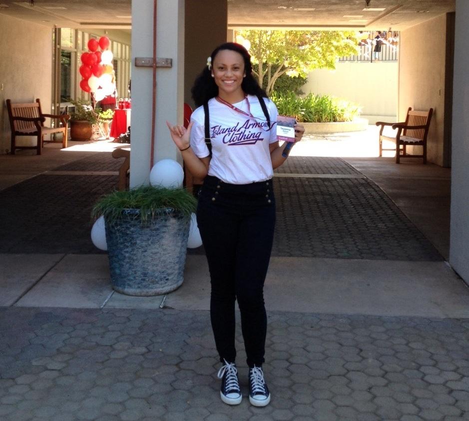 Teyonna Jarman, freshman year at Stanford University.