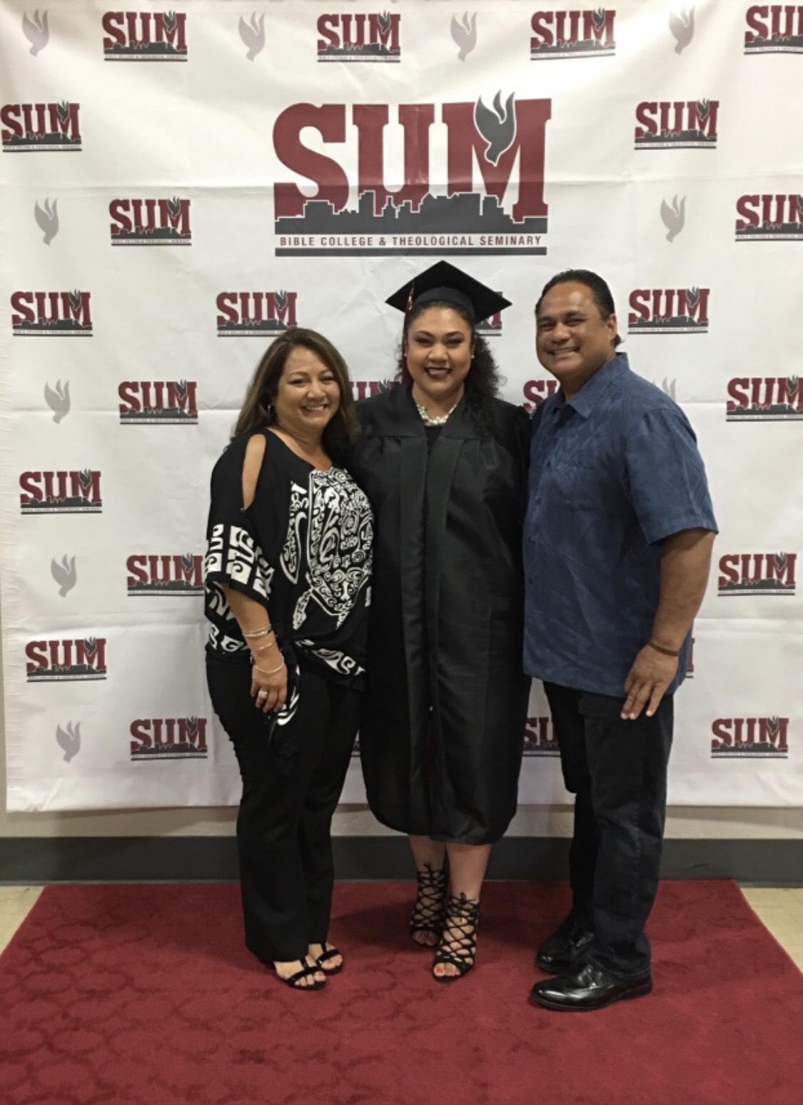 Alina Fa'aola at graduation.