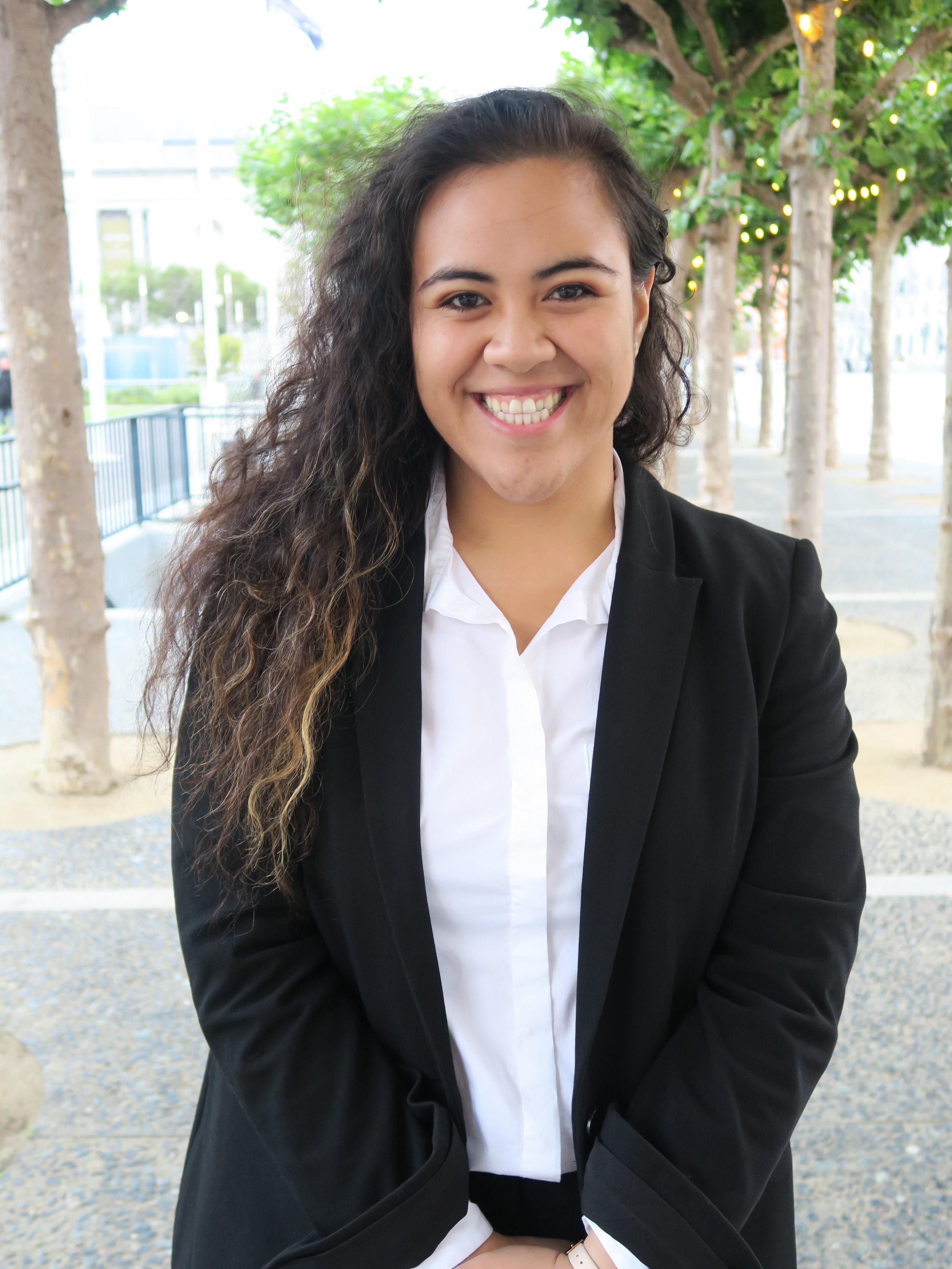 Jullian Sekona   First-generation Tongan law student.