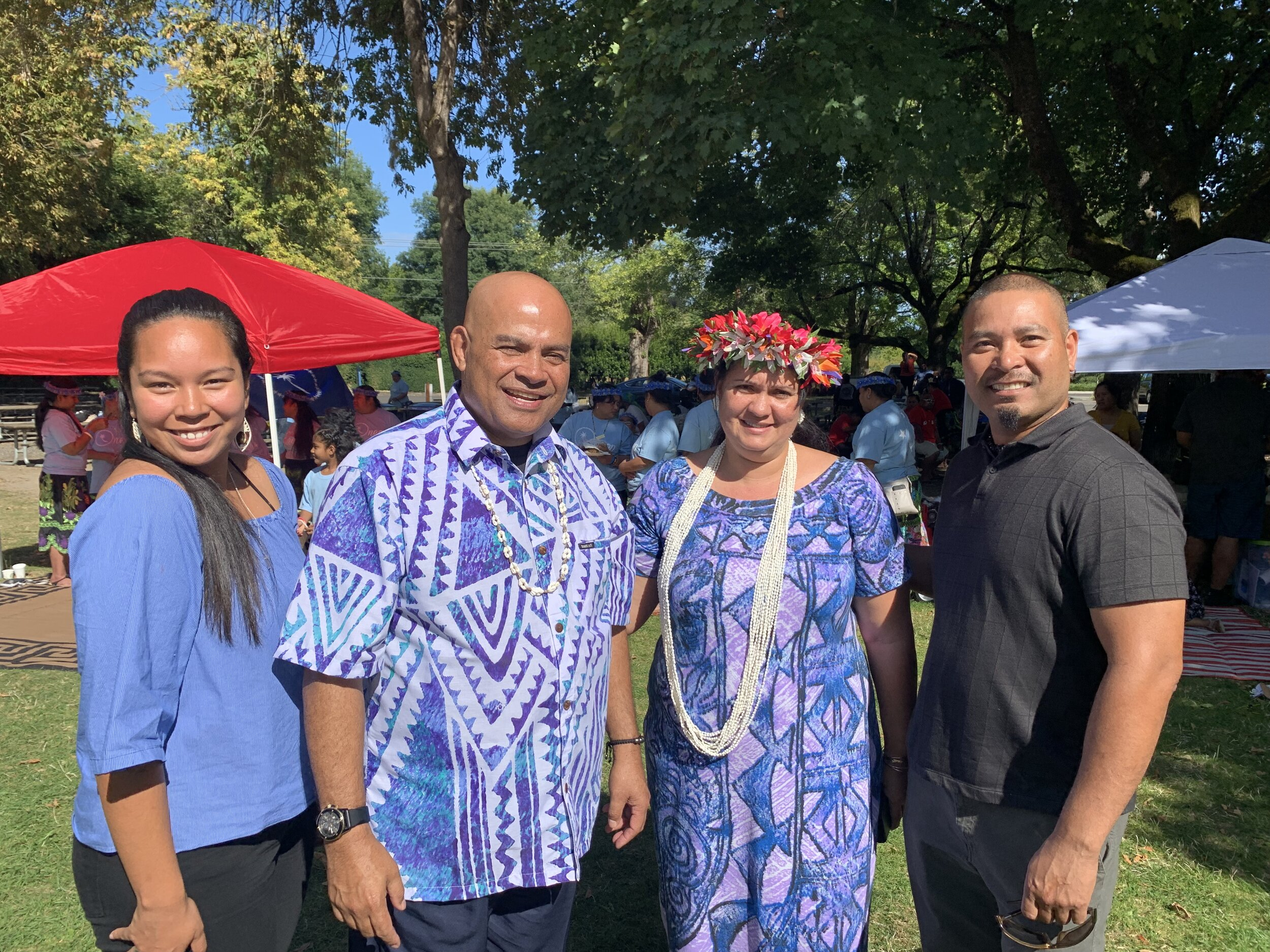 2019 2nd Annual FSM Community Day | Vice-President of South Pacific Islander Organization, MichaeLynn Kanichy; His Excellency David W. Panuelo; FSM First Lady Patricia Edwin; and Rickson Kanichy.
