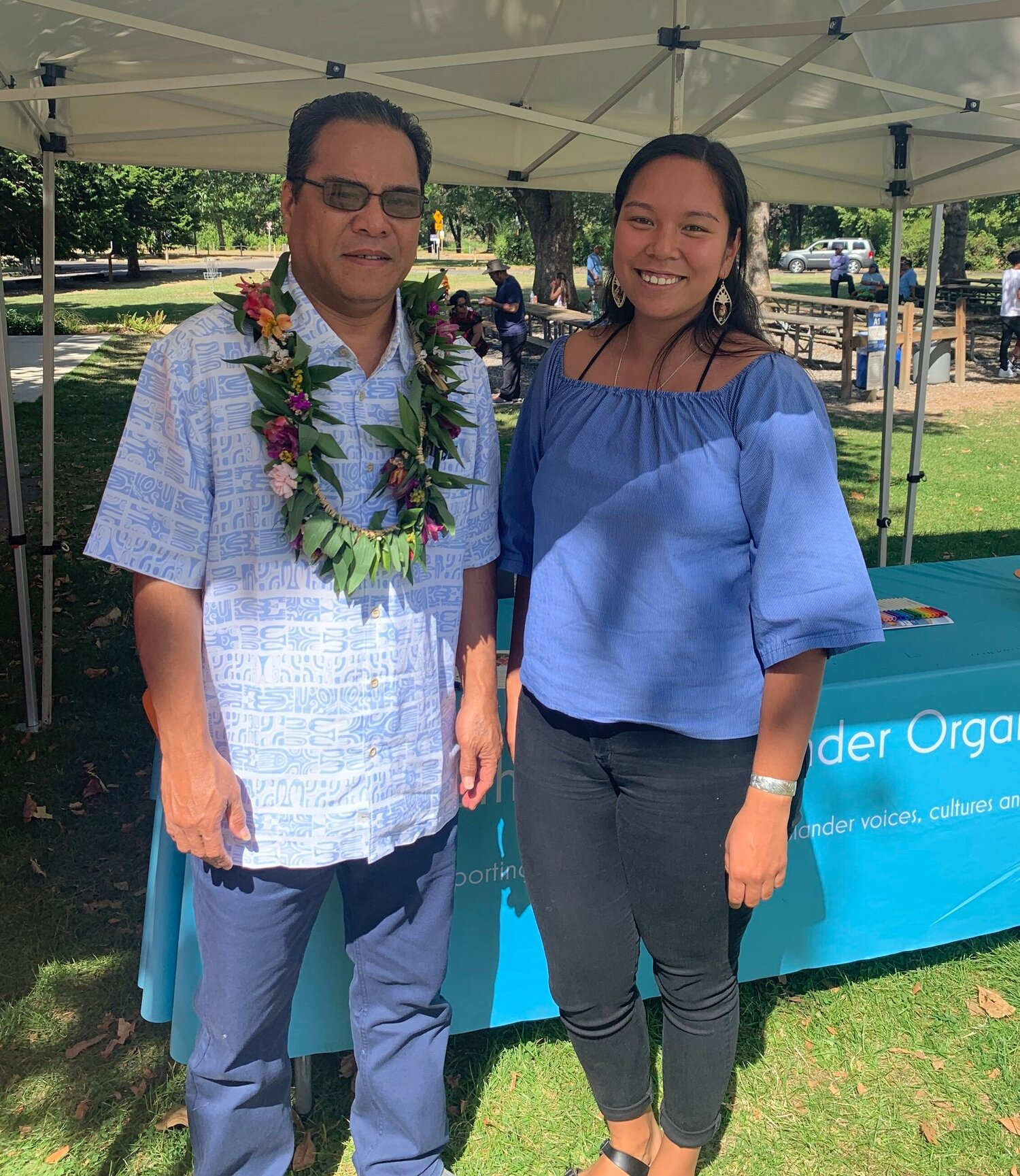 2019 2nd Annual FSM Community Day | The Honorable Wesley W. Simina and Vice-President of South Pacific Islander Organization, MichaeLynn Kanichy.