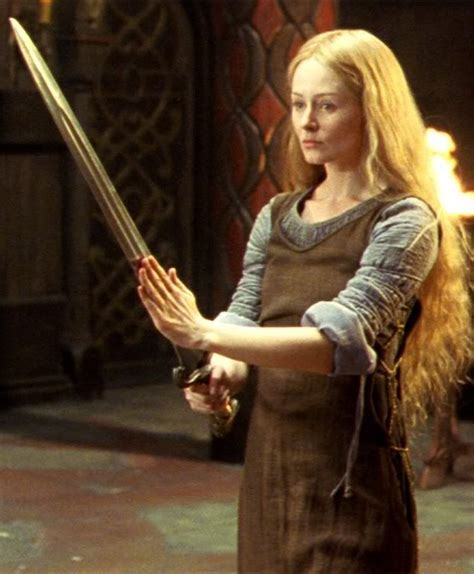 "Miranda Otto breathes life into Eowyn on the big screen. ""…fair and cold, like a morning of pale spring that is not yet come to womanhood."""