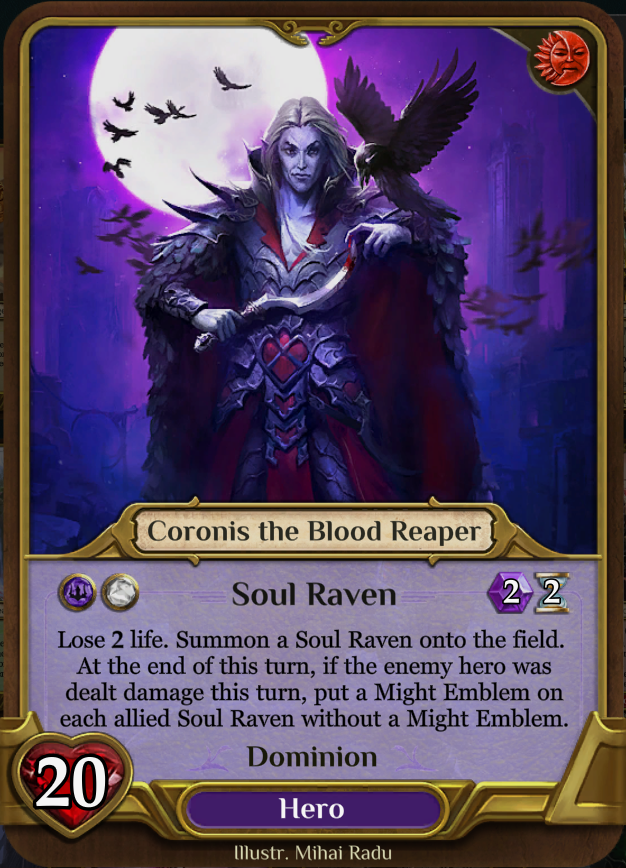 Heroes - This is the only necessary type of card per deck. The hero is meant to be a critical part of how the deck functions as his or her ability will increase the deck's potential and give it a purpose. Each hero grants you a skill, similar to a skill shrine (see below).