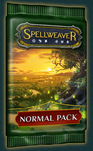 Normal Packs - Cost: 12.5k gold or 100 crystals (83.3 crystals per pack, if buying a 12 pack box)As quest reward: Yes (rare and epic quests)No. of cards: 10Pity timer: Yes (shared between normal, good, evil, and premium packs)Rarity distribution: 7 common, 2 uncommon, 1 rareEpic chance: 1 in 8 packs (at least 1 in 12)Heroic chance: 1 in 30 packs (at least 1 in 48)Foil chance: 1 in 5 packs (a single pack can contain more than 1 foil)Notes:- 3 normal packs (in addition to a ticket) are required to enter a draft tournament- normal packs opened in a draft tournament are not affected by the pity timer in any way- Packs with a shared pity timer share the same counters. Opening a normal, good, evil or premium pack adds to the shared counter and once a counter hits its critical number, opening any of these types of packs will guarantee you the epic/heroic card. Example: You open 4 normal packs, 1 premium pack (increases the counter by 2), 3 evil packs and 2 good packs one after the other without getting an epic. The next (12th) pack you open will contain an epic no matter if it is a normal, evil, good or premium pack.