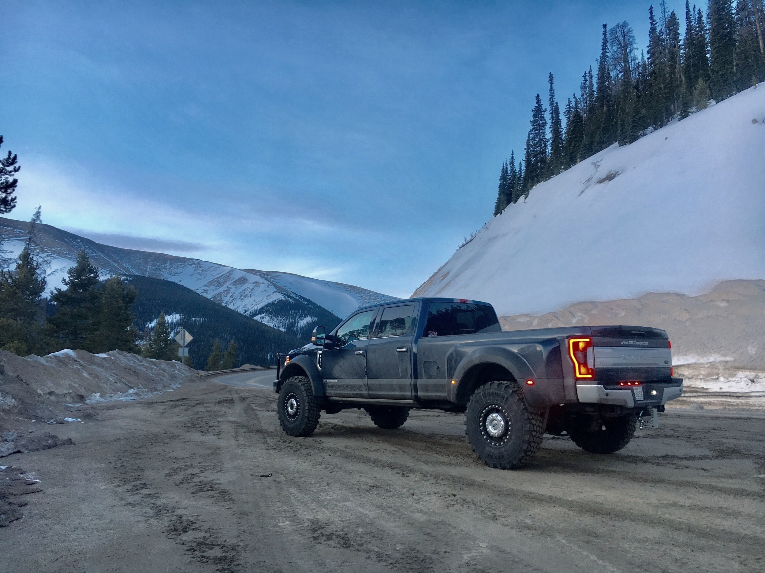 Ford F550 Offroad Mountains
