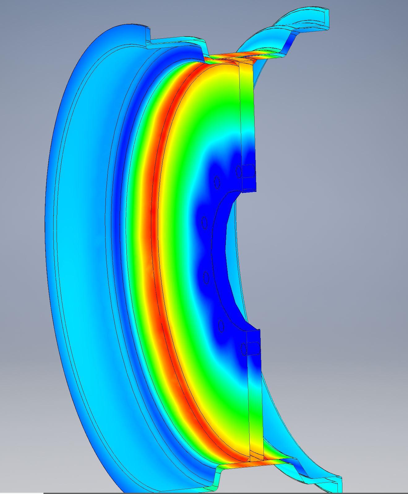 Steel Wheel Stress Analysis Super Single