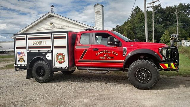 Thank you Campbell Fire Department for letting us work on this F550 beauty! We are happy you are enjoying it! #ford #severeduty #offroad #fordf550 #dieseltrucks #fordf450 #f450 #f550 #fordnation #fordpower #supersingleconversion #supersingle #aluminumbody #alumiduty #fordsuperduty #powerstroke #6.7l #offroading #farmtruck #overland #continentaltires #brushtruck #brushtrucks #firetruck #wildfire #firedepartment #volunteerfirefighter