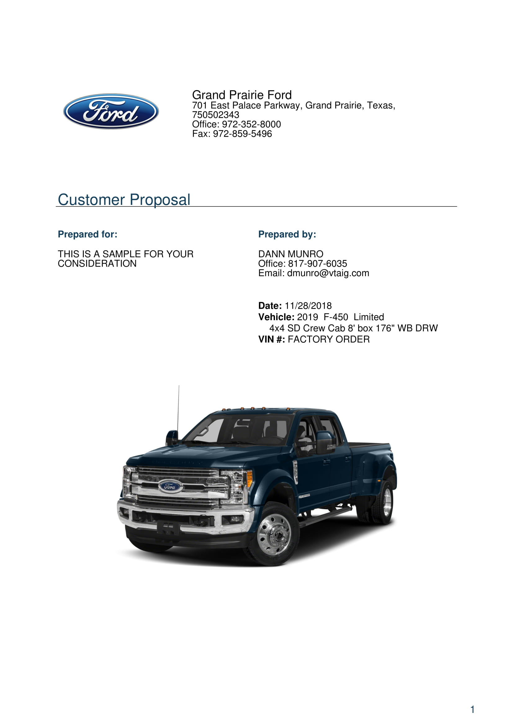 Ford F450 Limited For Sale