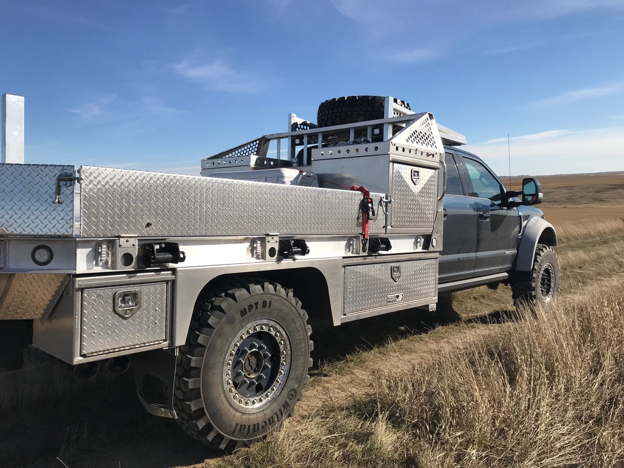 Grey Brush truck