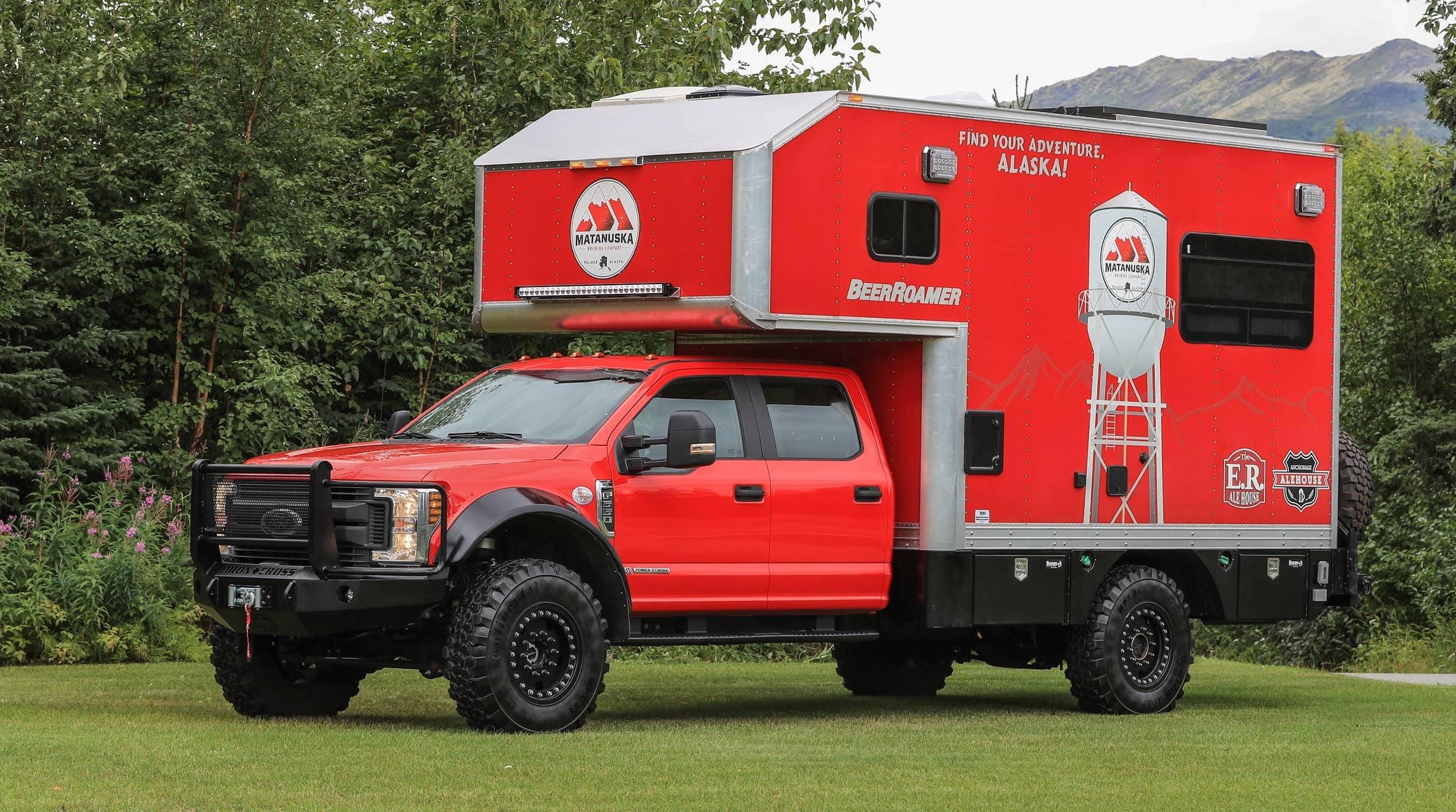Red F550 Camper