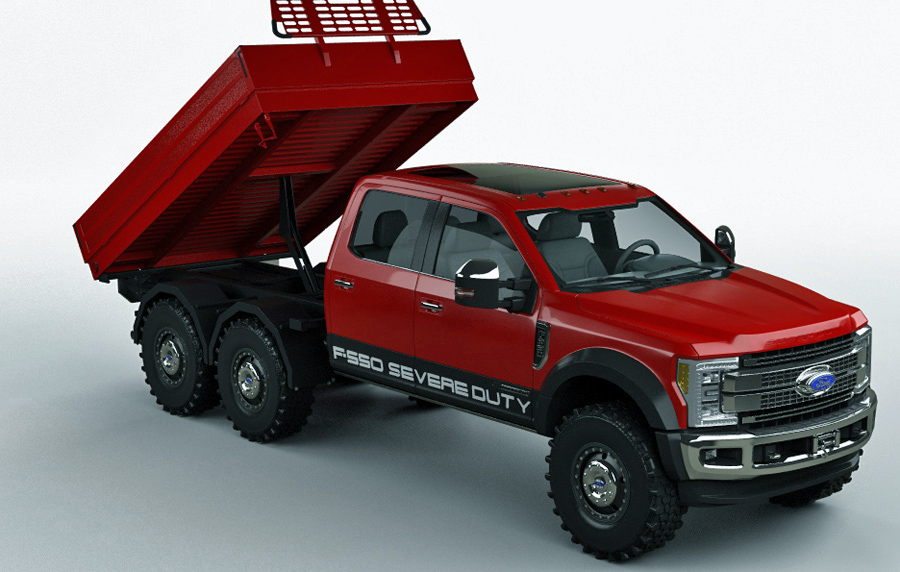 Demonstration of 6x6 cab chassis up
