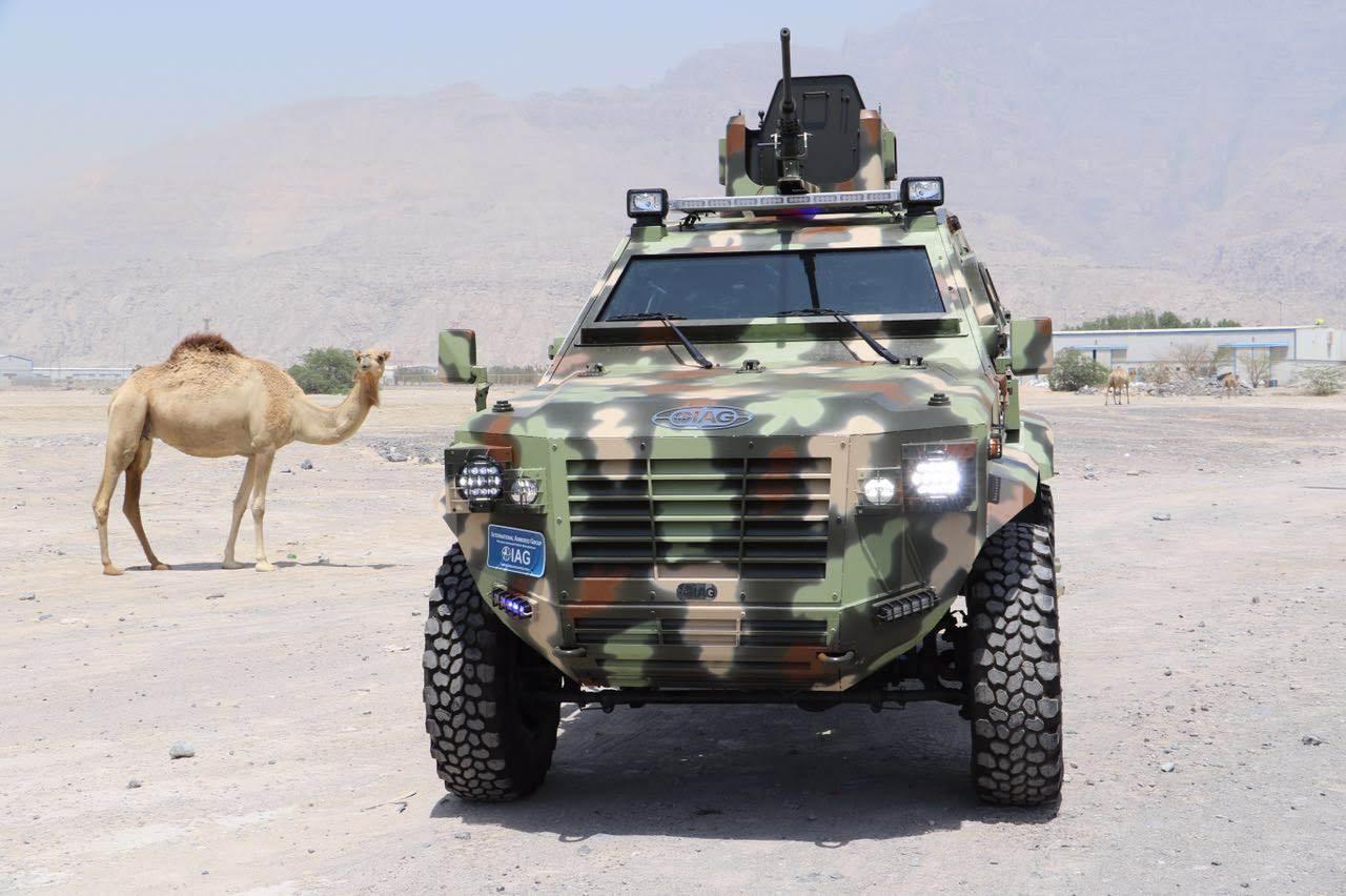 Camo IAG military truck