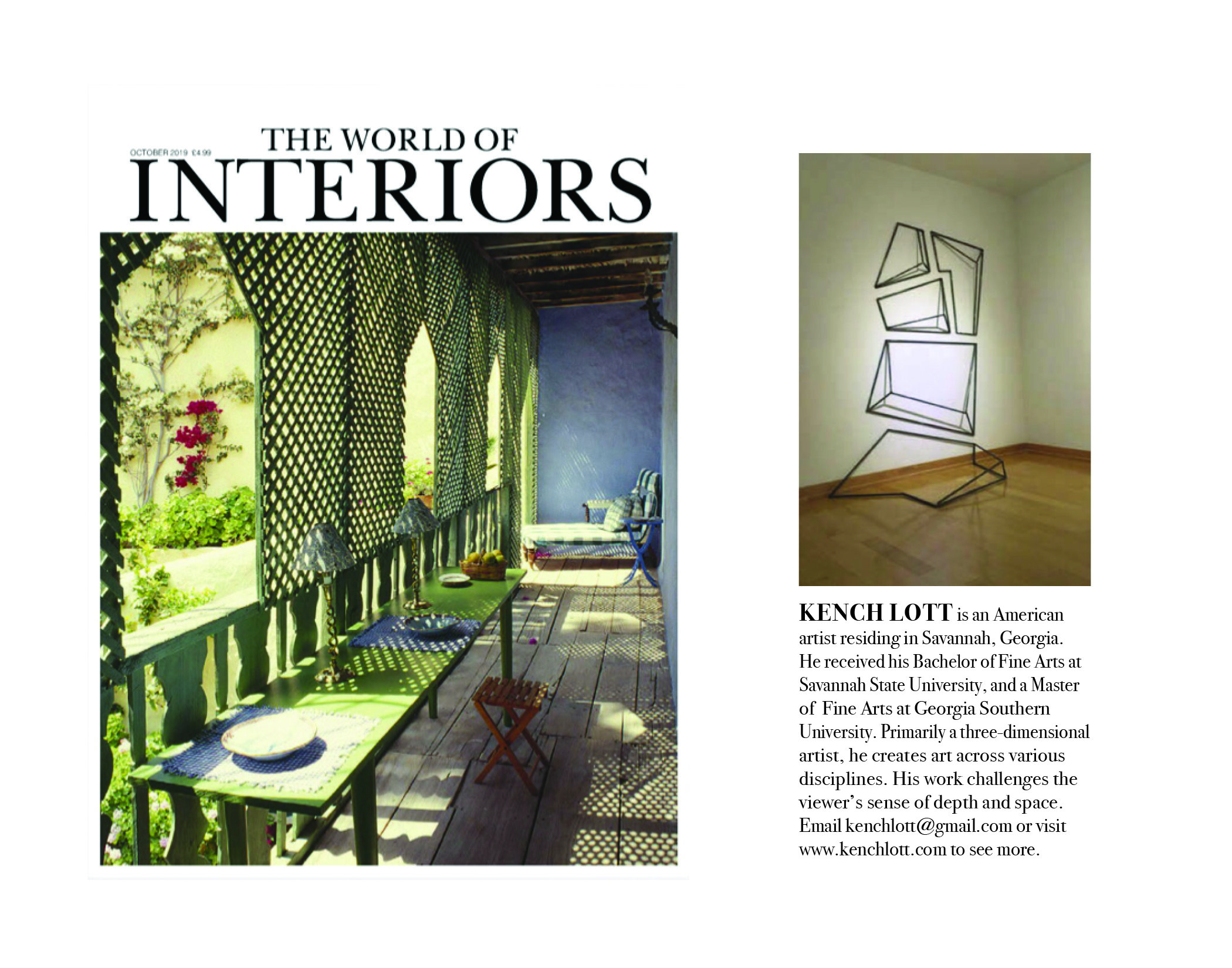 The World of Interiors ( October 2019 issue)