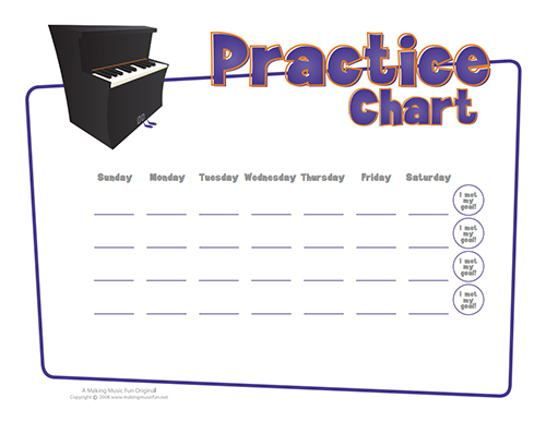 Click to download the 4-week practice chart