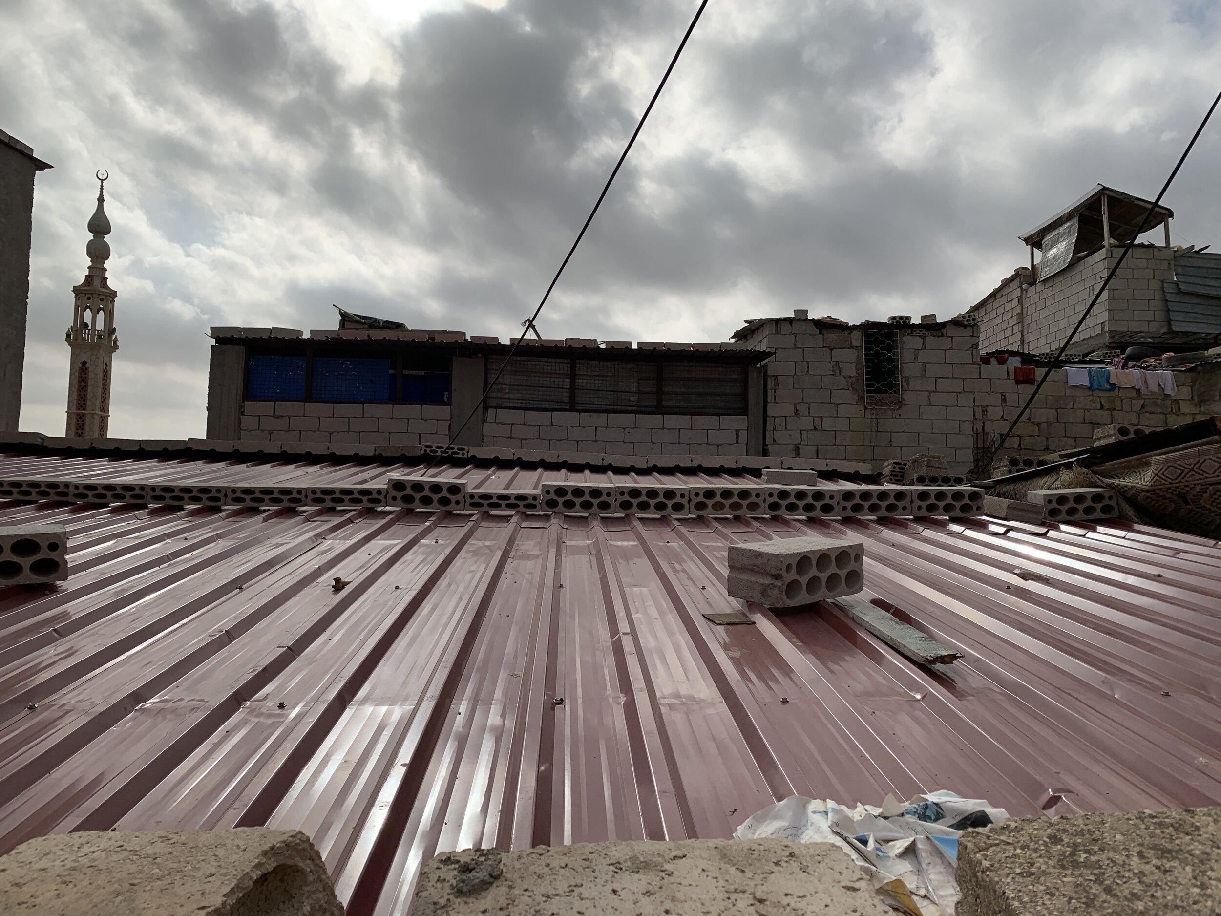 After - New bearing walls and zinc sheets