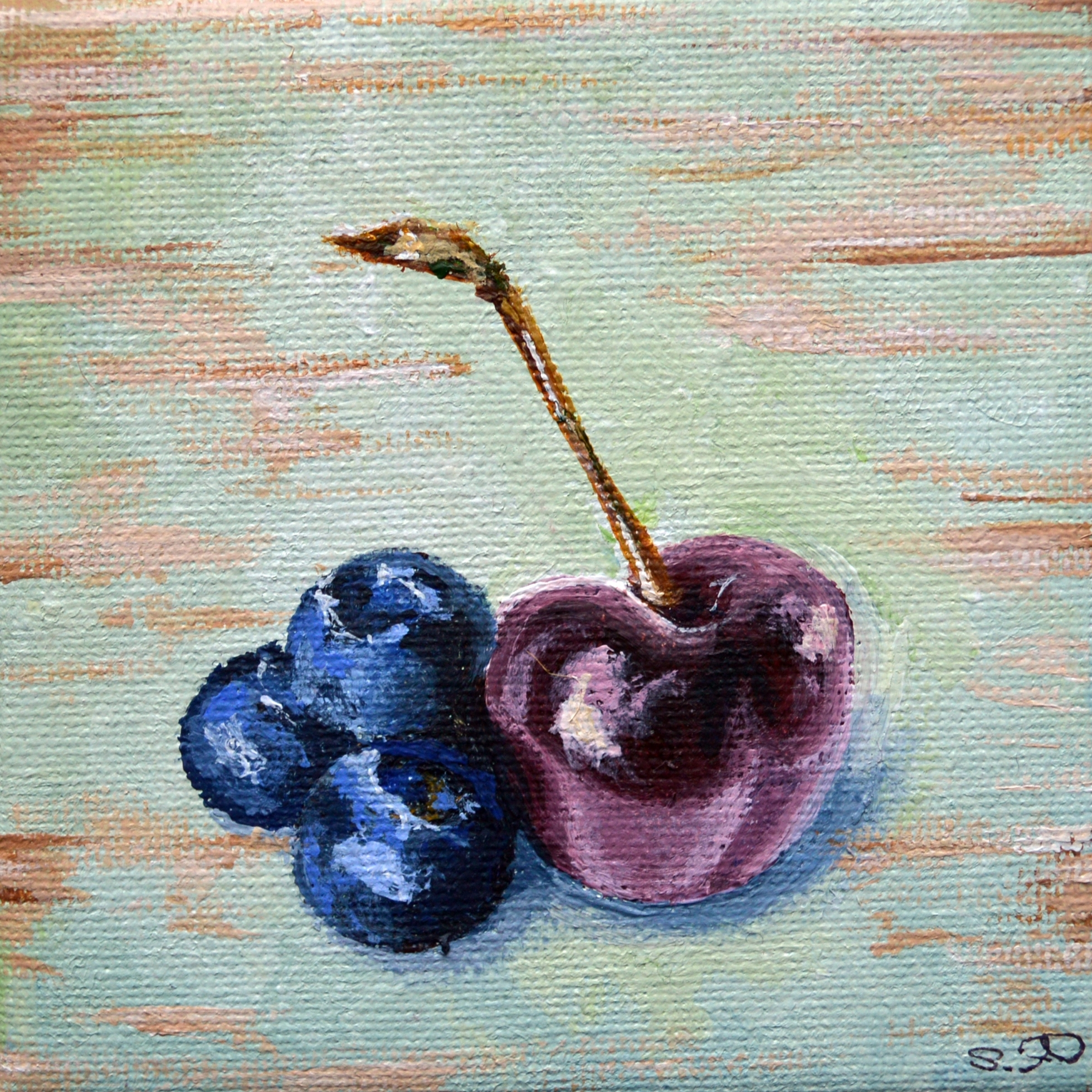 Summer Fruits: Blueberries and Cherry