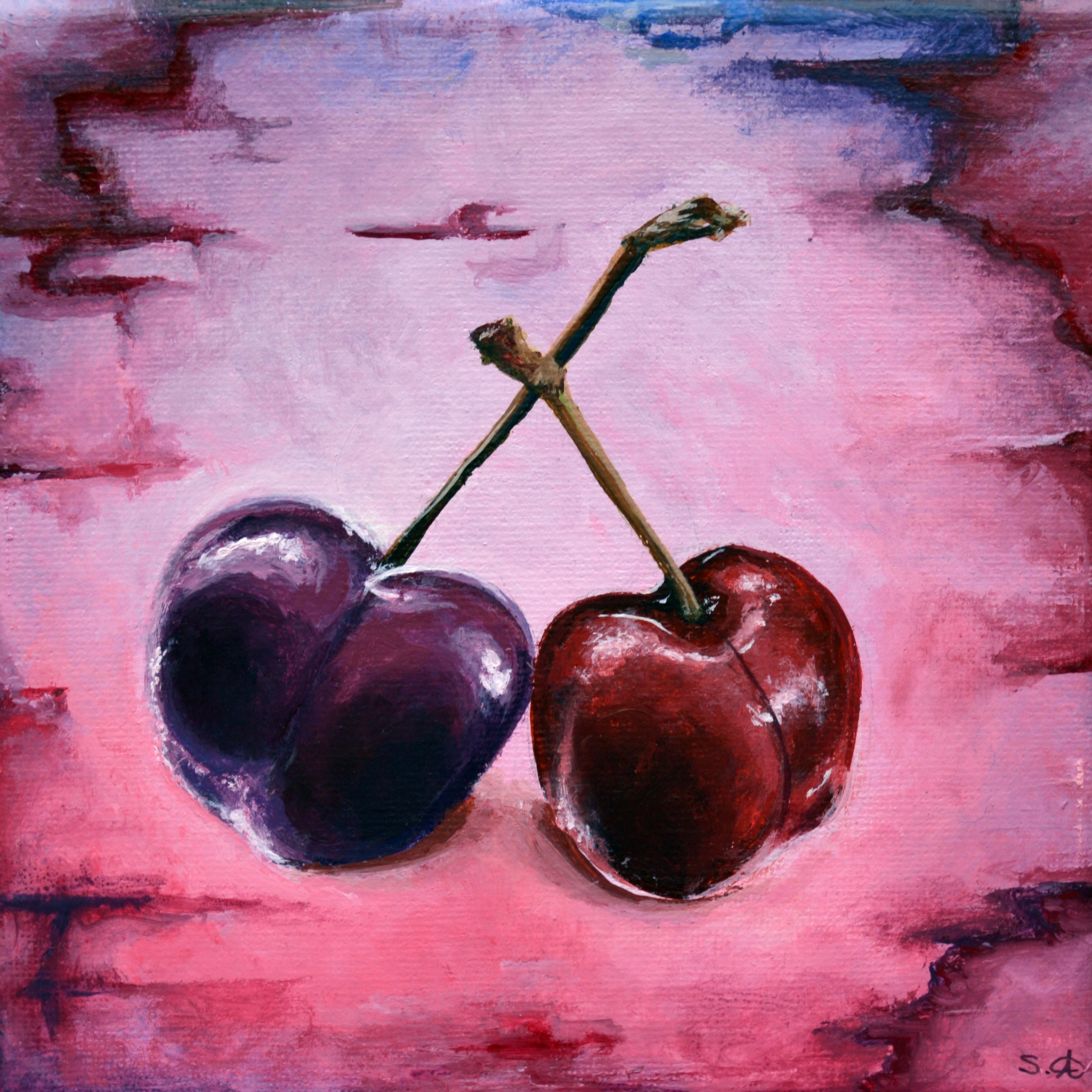 Summer Fruits: Purple Cherries