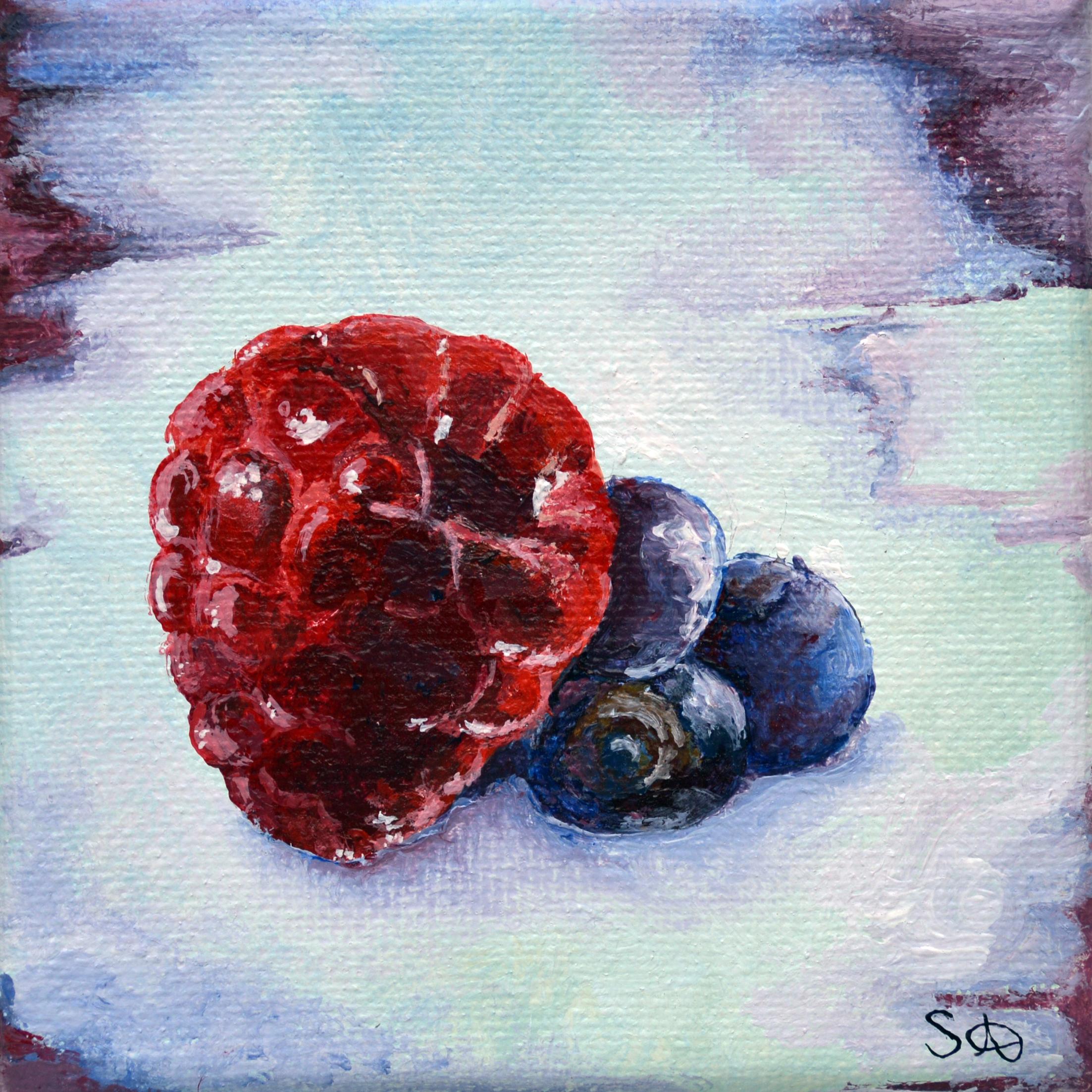 Summer Fruits: Raspberry & Blueberry