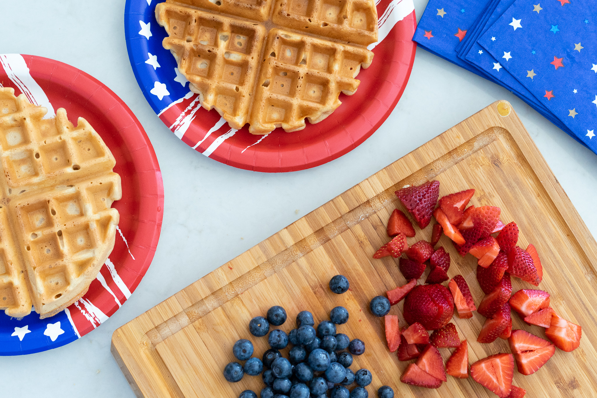 stop and shop, casa de fallon, forth of July, 4th of July, waffles, 4th of July breakfast.jpg