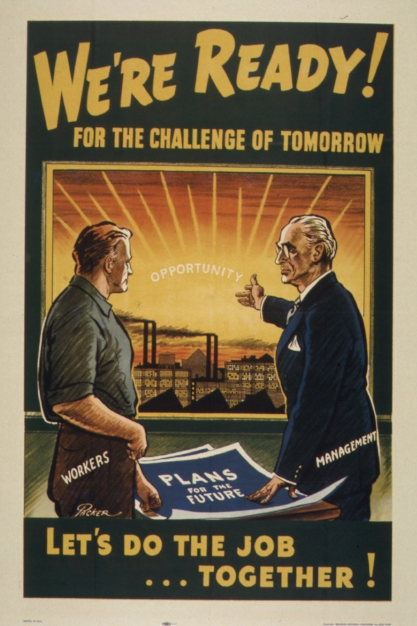 """""""We're ready!"""" From the US Office of War Information, Bureau of Special Services, 1944."""