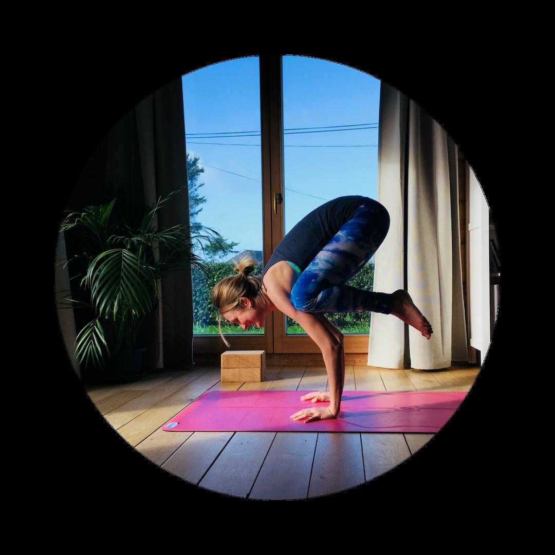 Caroline, professeur de yoga dynamique et Yinyasa