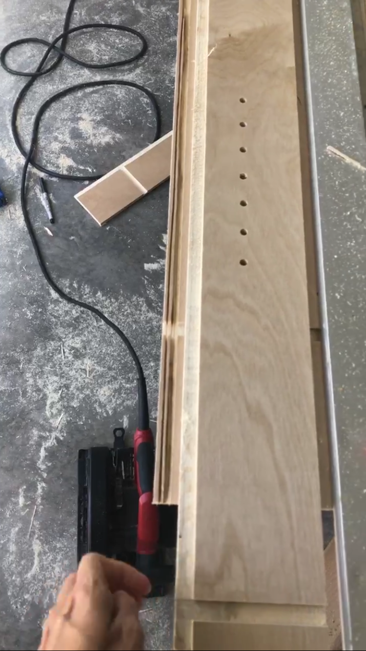 He used a router to take of the excess wood and make a channel.