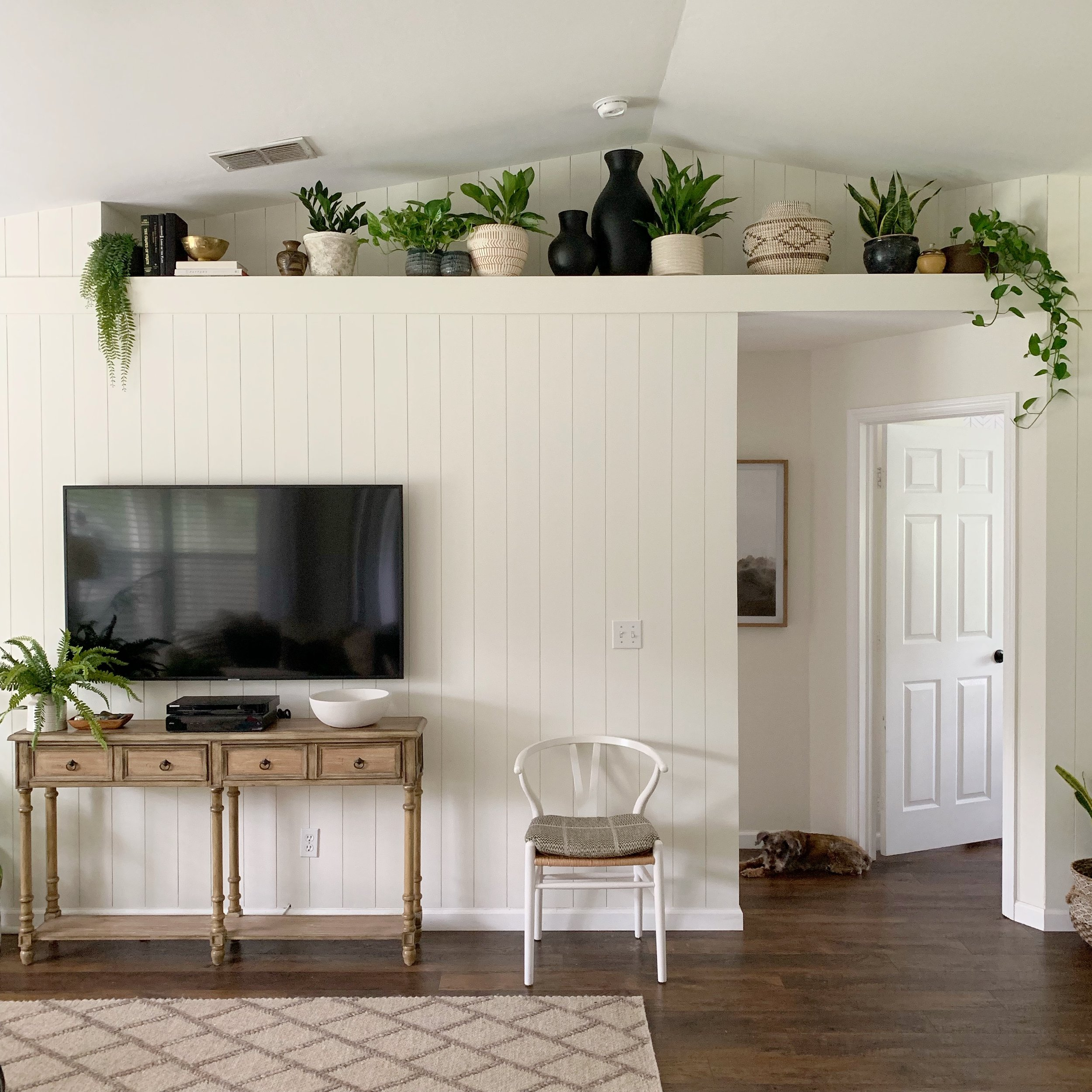 High shelf plant ledge