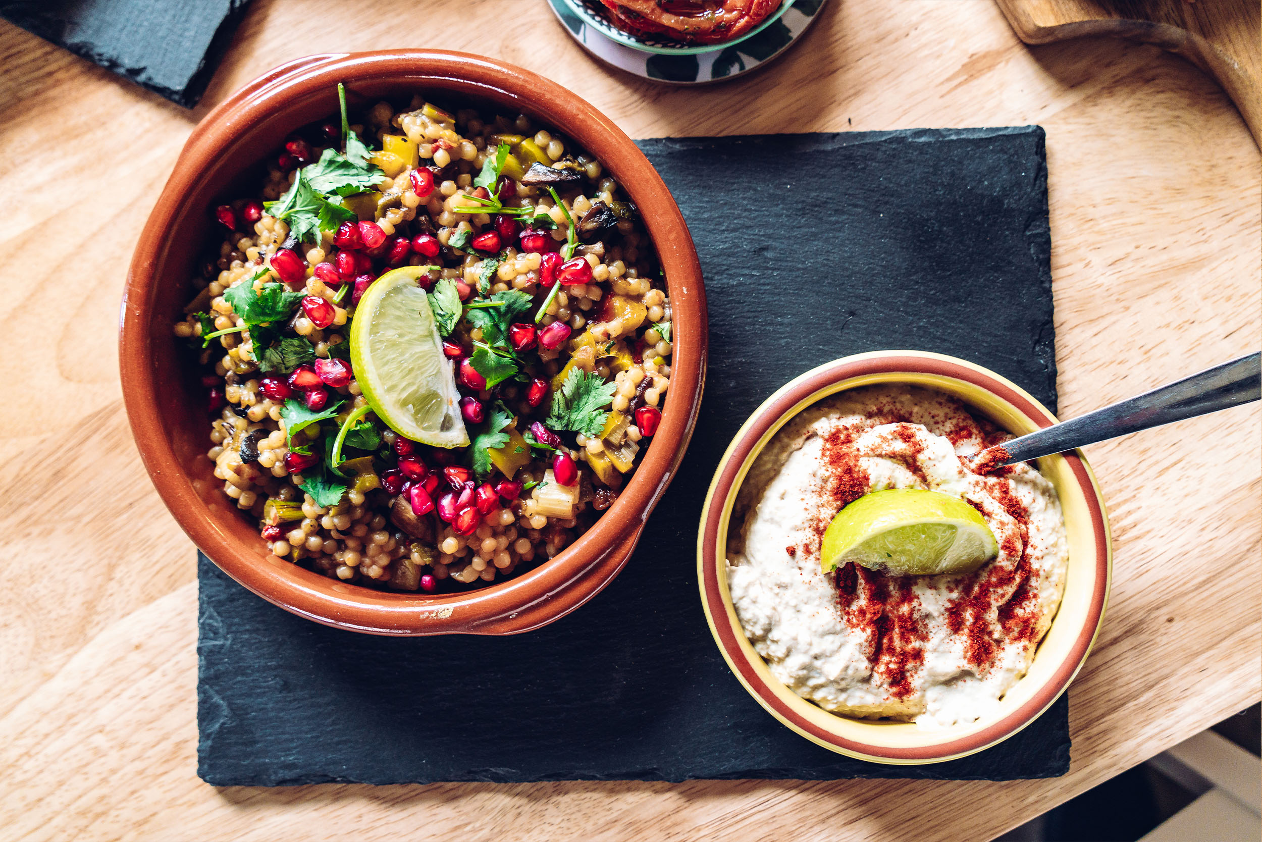Gemma and Life Blog - Mediterranean Food - Giant Couscous and Hummus.jpg