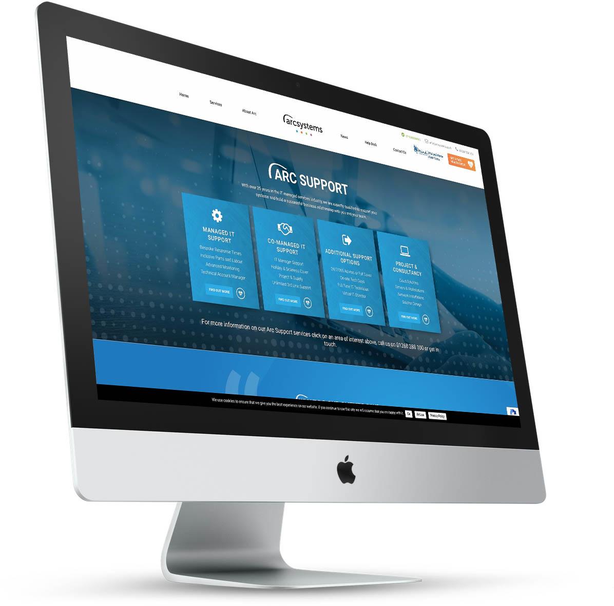 Arc Systems Website Design