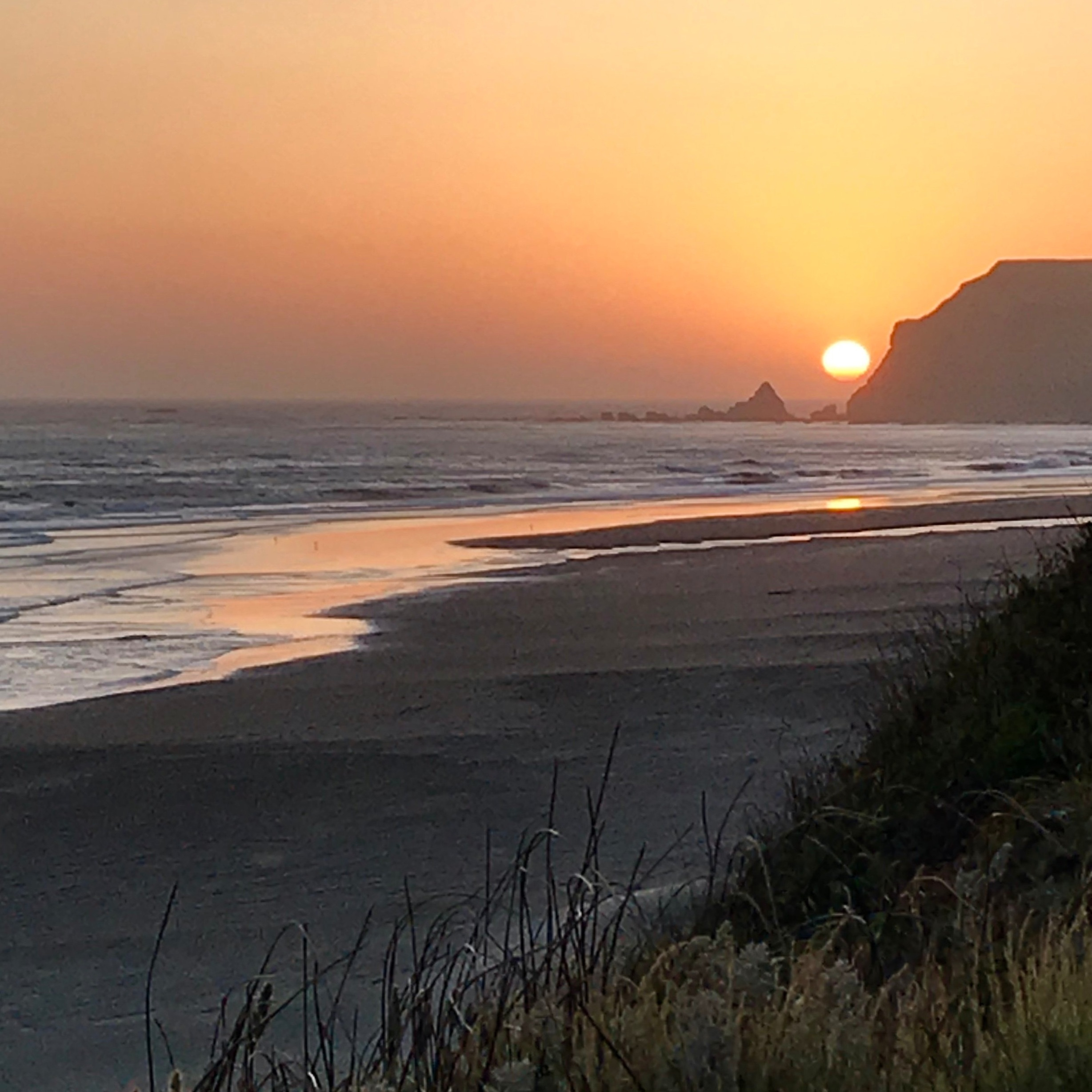Sunset at Cape Blanco  ~ photo Pat Hedden