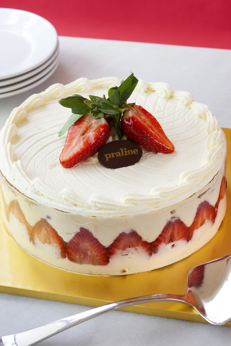 Strawberry Shortcake   Yellow cake with vanilla mousseline and fresh berries; topped with whipped cream  43.00