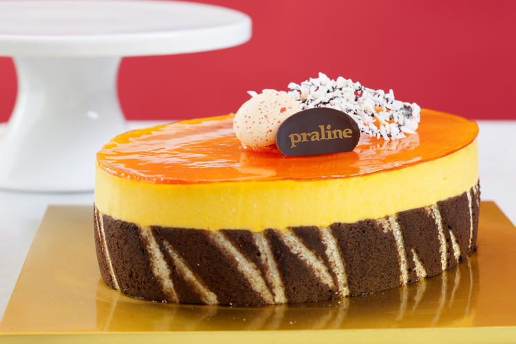Tropical Mango Mousse   Coconut dacquoise, pineapple gelée and mango mousse wrapped in joconde biscuit  42.00