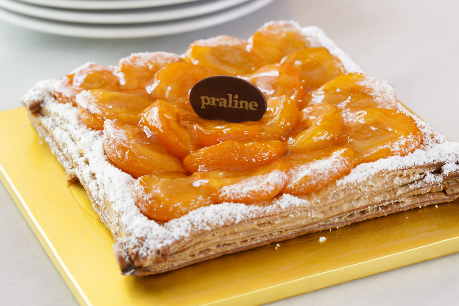 Apricot Almond  Puff pastry filled with almond frangipane and apricots  28.00