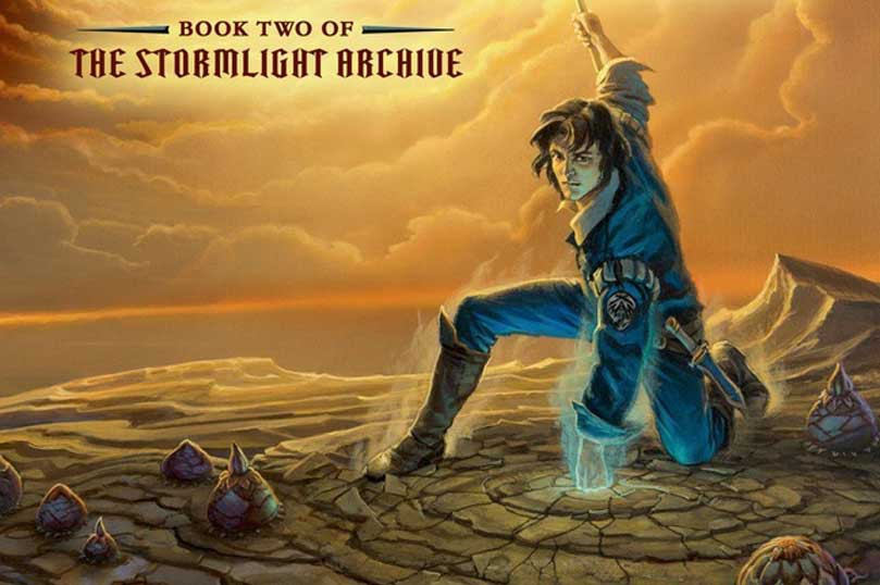 """Brandon Sanderson's Stormlight Archive series is one of my all-time favorite high fantasy series. This is my favorite cover artwork featuring my favorite character Kaladin, from the second book in the set, """"Words of Radiance."""" Sanderson's world building is fantastic, and he inspires me to want to write my own novel."""