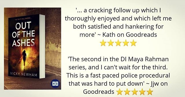 11 more sleeps til #OutOfTheAshes is published & I've just braved Goodreads. It has two new ⭐⭐⭐⭐⭐ reviews! 😀  Yep, DI Maya Rahman is back with the most explosive investigation of her career, one that nearly breaks her.  Have you pre-ordered your copy? 🔜 https://amzn.to/2QdcQKS