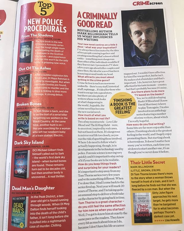 Hanging out in Crime Monthly's Top 5 police procedurals this month. Out of the Ashes is out next Thursday via @hqstories. You can order your copy here: https://amzn.to/2QdcQKS