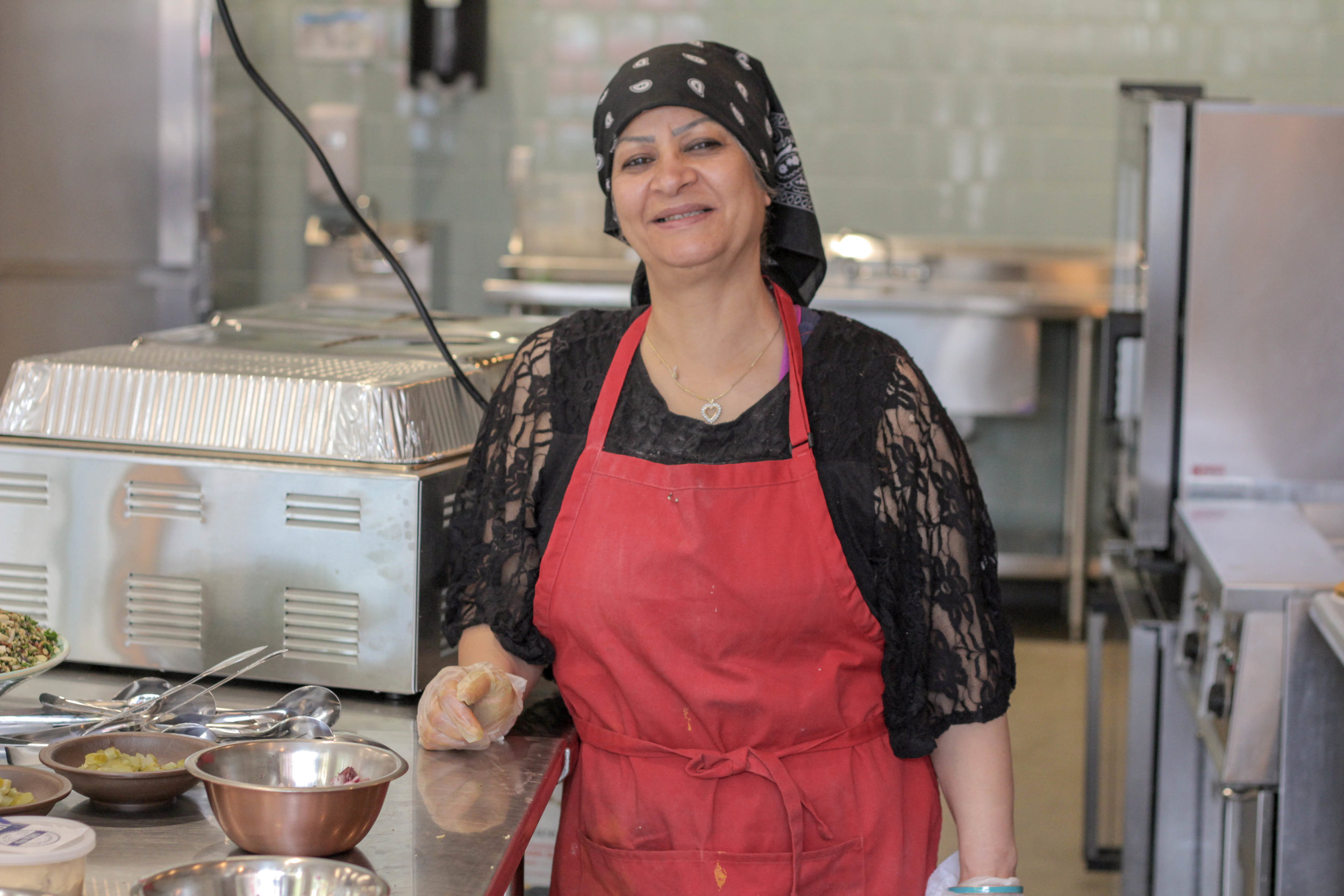 Azzezah Ali, Iraq  Azzezah Ali hails from Baghdad, Iraq, where she worked in education for nearly 25 years. She served as both a mentor and a supervisor, until she fled Iraq in 2015. She came to Cincinnati because of the excellent education services for her special needs son, and started a small business baking Iraqi-style pita bread in a tandoor oven.
