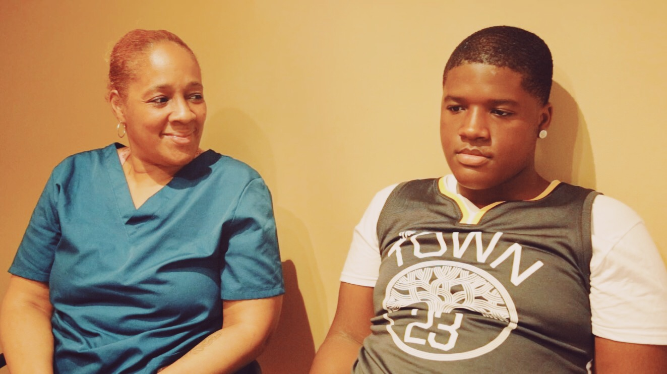 Since Robeson will be closing, many parents wondered which other schools will their children enroll to complete their high school education. For Shirley Harris's son Cameron, he will be attending Hyde Park Academy. Photo: Olivia Obineme