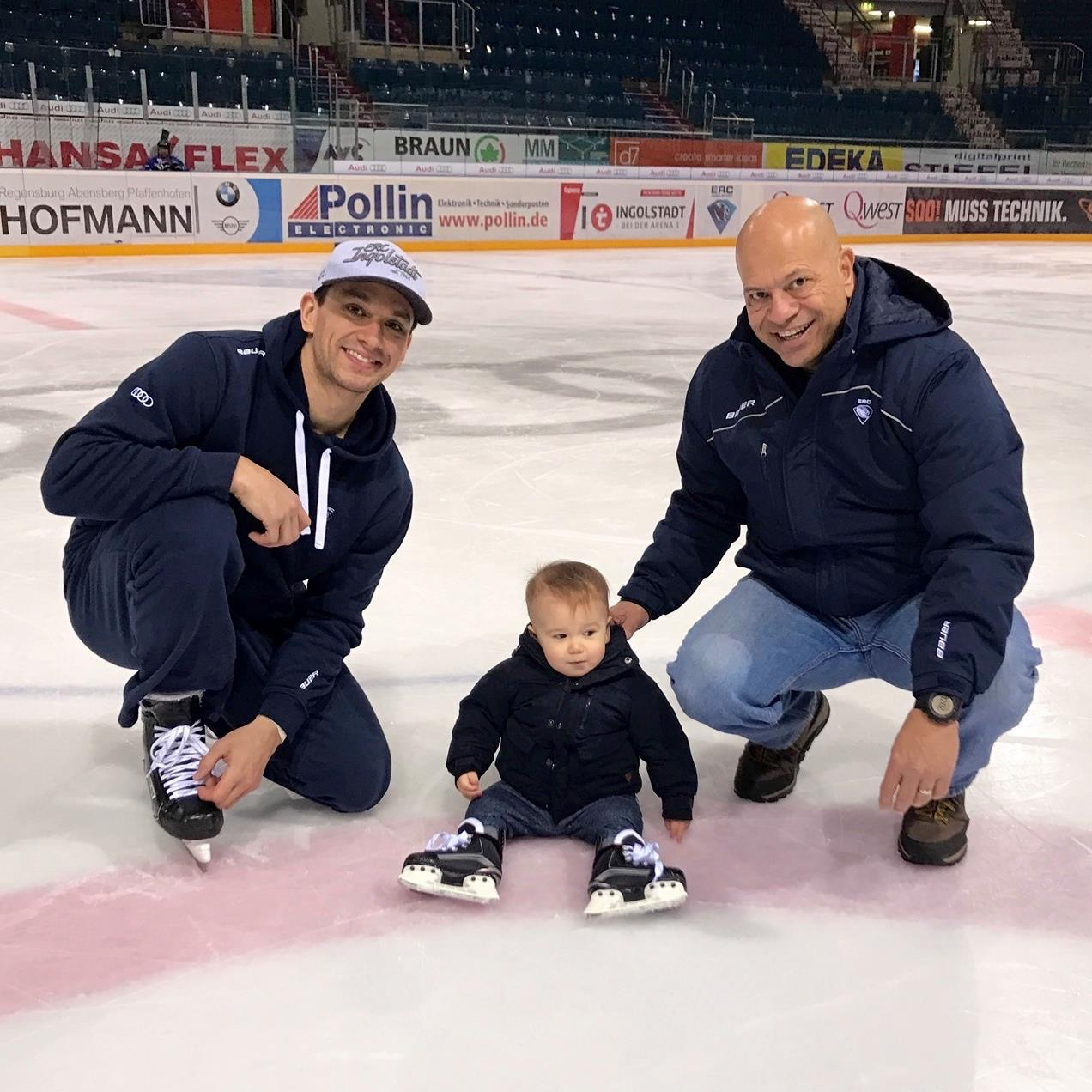 Copy of Brian, Lincoln, Frank at family ice in Ingolstadt, Germany