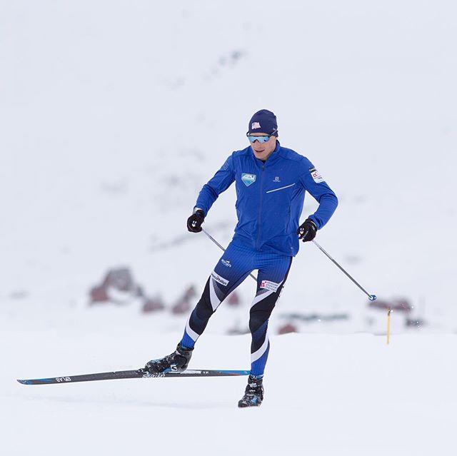 Team Black and Blue. 🖤💙@salomonnordic @swixsportus 📸. @eric_packer • #alaskabornandraised #teamusa #timetoplay #snow #ski #mountains #alaska #apunordicskiteam