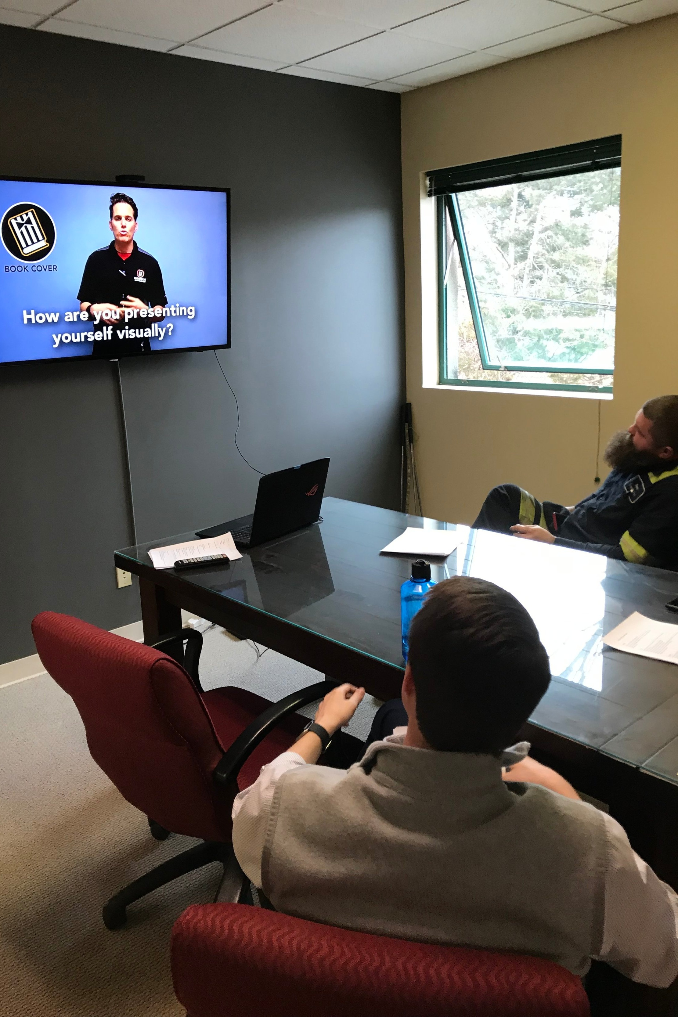 Our Friends at LXC Sport and Social have new refs watch a Social Ref video course in the office.