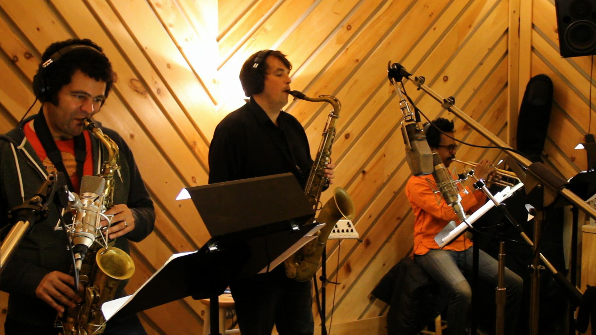 Horns at Bunker studio