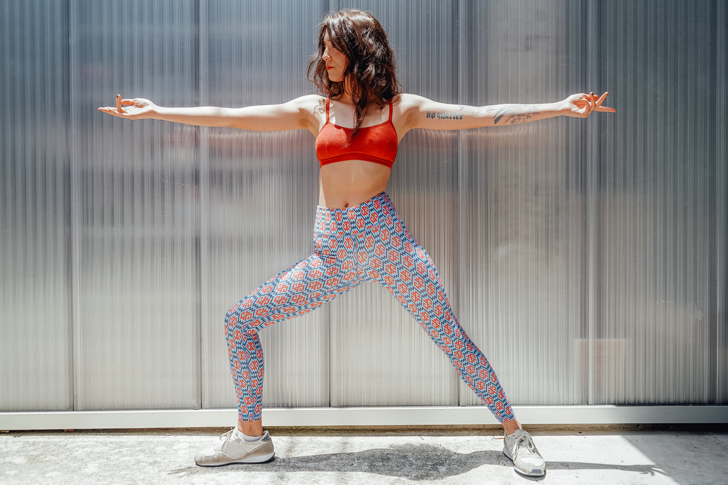 Emily's bottoms are the SUSANA LEGGING PANT - SPIRITUAL MIRROR $88.00 now available at  nubianatalie.co