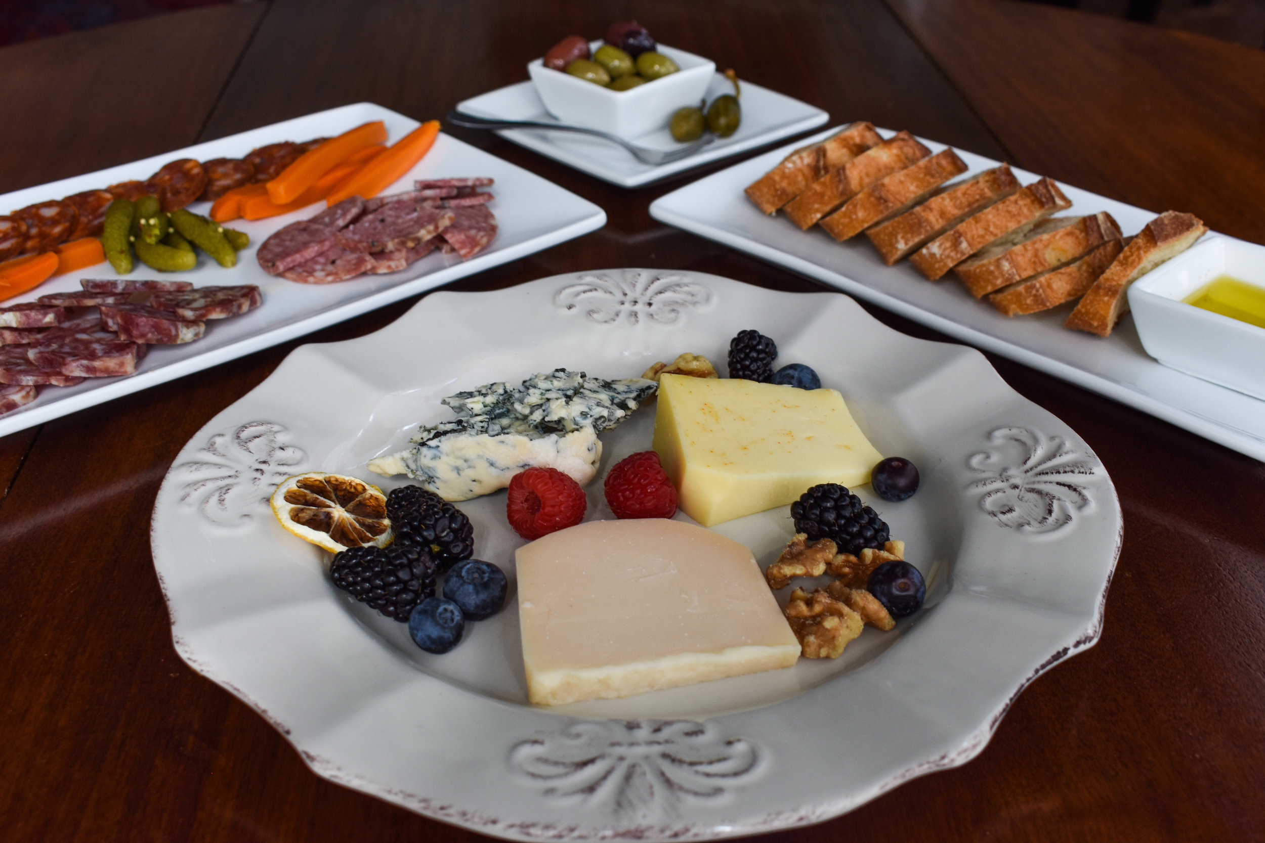 Fare - From tapas such as Tuscan meatballs and deviled eggs to platters of local and European cheeses and charcuterie. We offer light fare to be enjoyed with drinks in a lounge atmosphere.