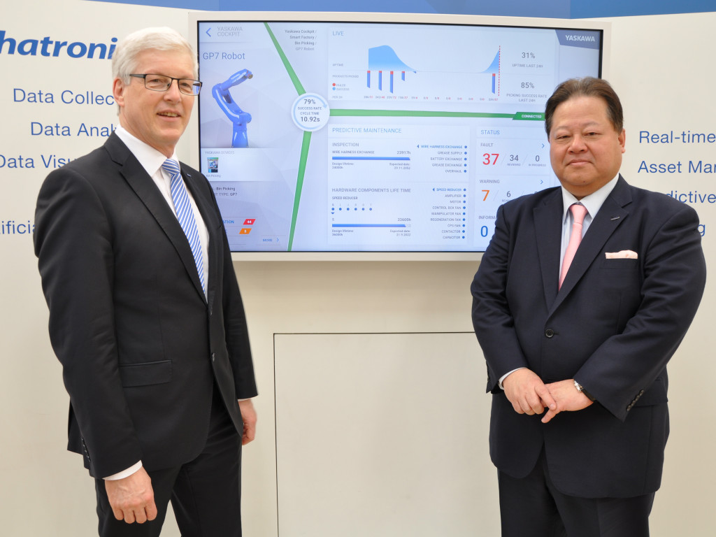 Hannover Messe 2018Mr. Manfred Stern, Vice President Yaskawa Electric Corporation, Managing Director Yaskawa EuropeMr.Koichi Takamiya, Board Member, Yaskawa Electric Corporation -