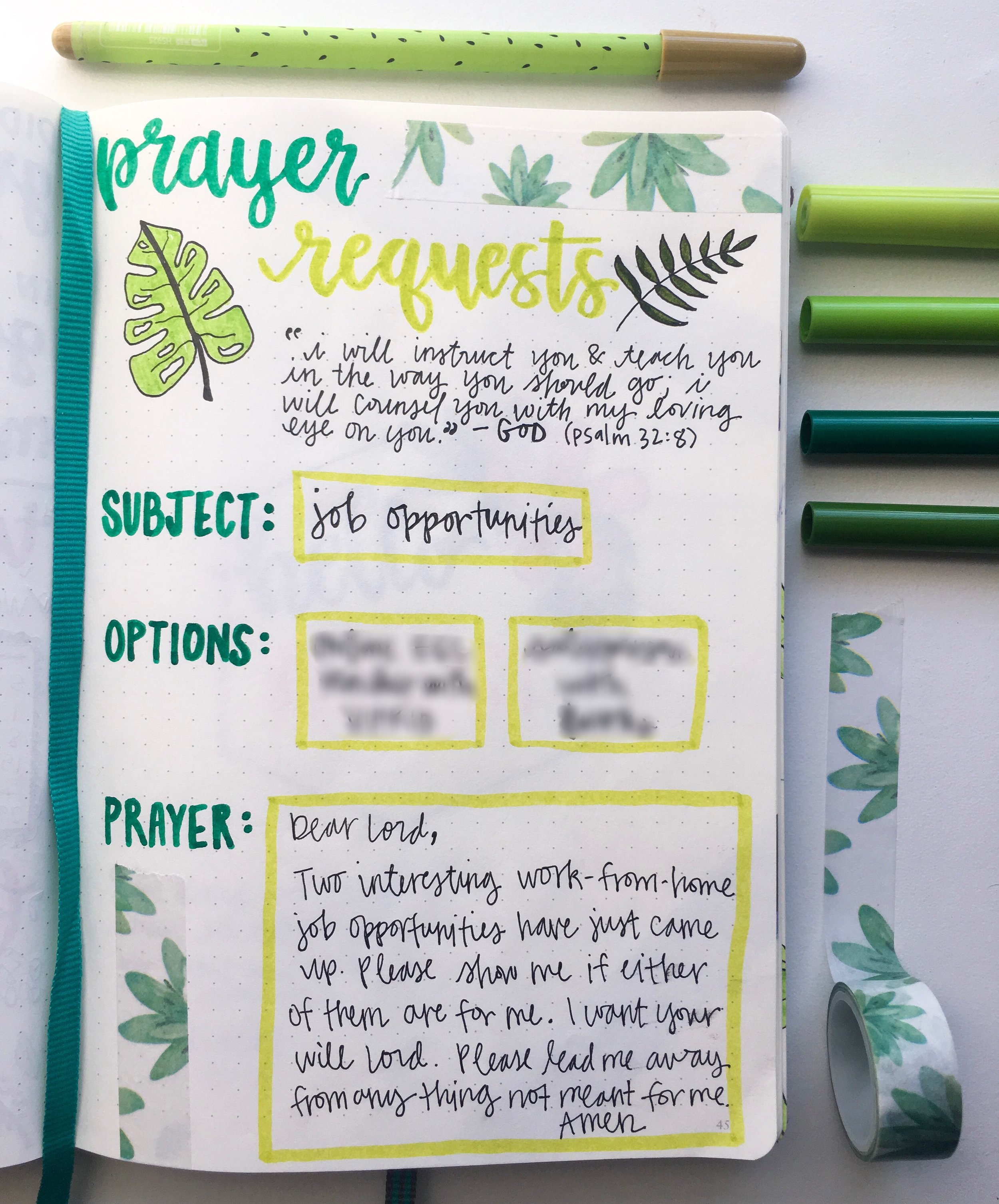 """If you're not praying about two different things, no worries! Just add or subtract the boxes under """"options"""" to accommodate to your specific situation."""