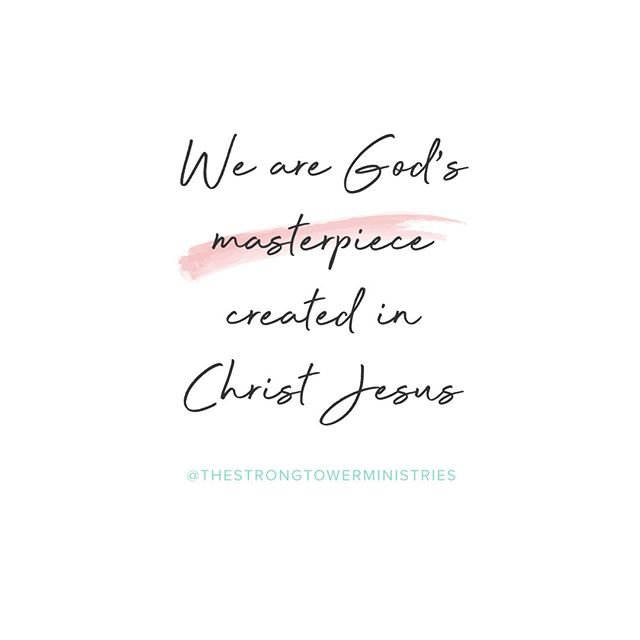 Next time you're feeling down about yourself-- disappointed in what you see in the mirror, or regretting something you did last week-- remember that you are God's masterpiece, made in the image of His Son. And nothing can take that away from you💕✨ #WomenStrongInFaith