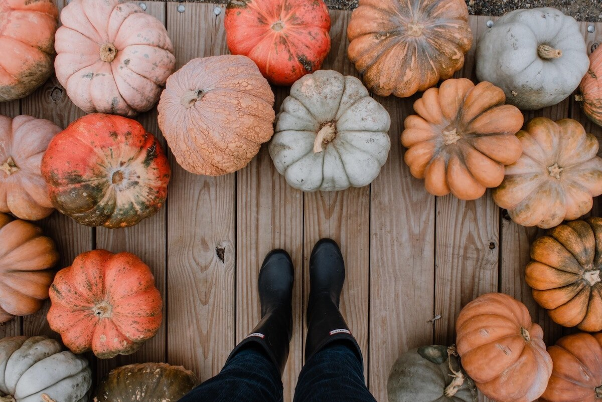 girl-standing-in-boots-in-pumpkin-patch