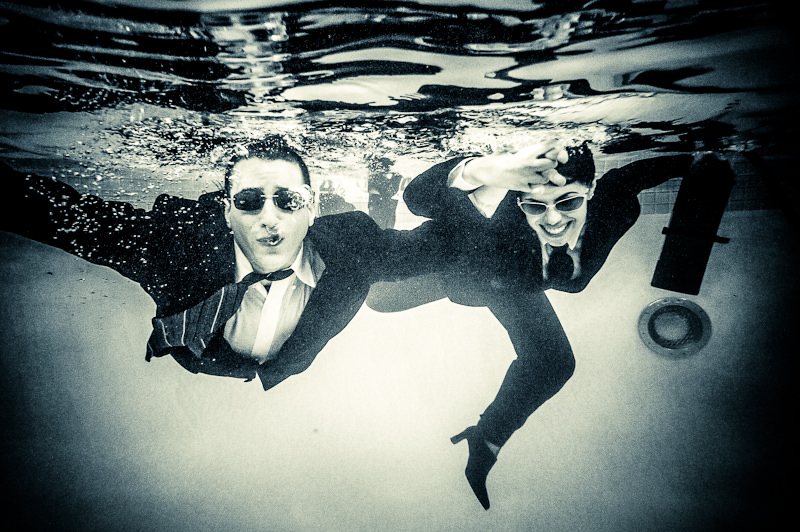From our underwater engagement session in 2011 with Sacha Blue Photography